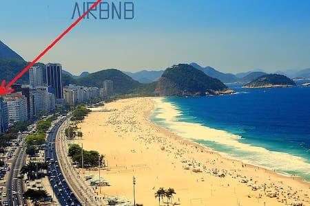 QUARTO, COPACABANA, WI-FI, 1 QUADRA PRAIA / METRO - Rio de Janeiro