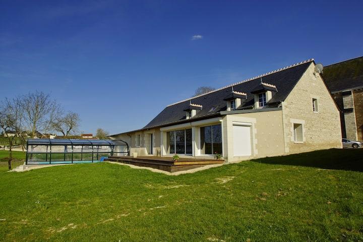 Maison avec sauna, spa, piscine couverte-chauffée