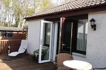 Double doors to outside area