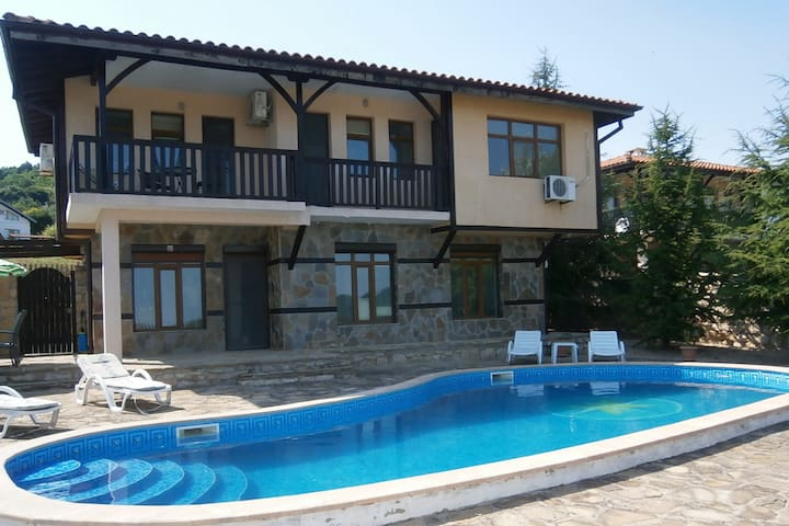 Quiet and secluded House offering Black Sea Views.