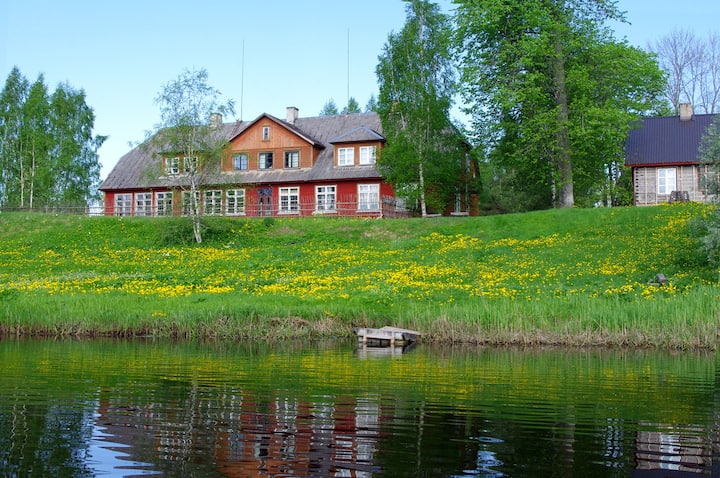 Old schoolhouse by the Pärnu river