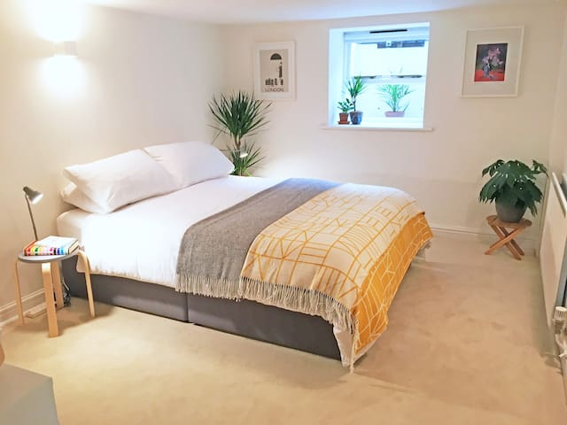 Stylish & comfy garden flat in great location