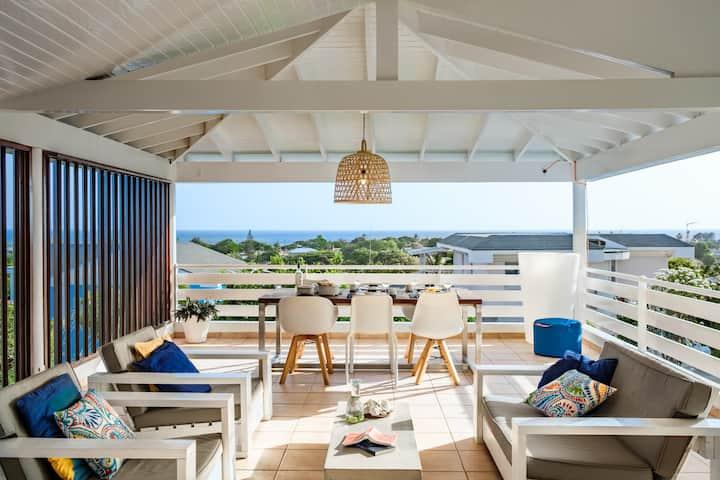 Ç View Villa - 180° Sea-View - Walk to the Beach!