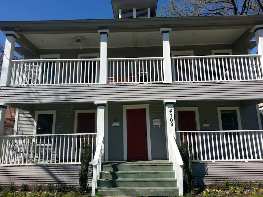 Front Porches and Balconies are perfect for people watching!