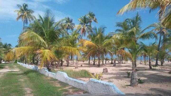 cabaña frente a playa privada