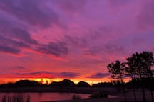 Majestic sunrises from our deck!