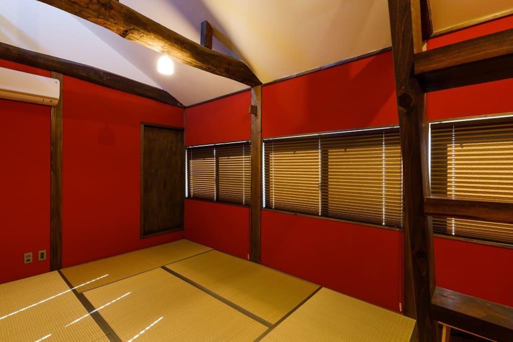 Kanazawa Jyurakunuri traditional Red wall