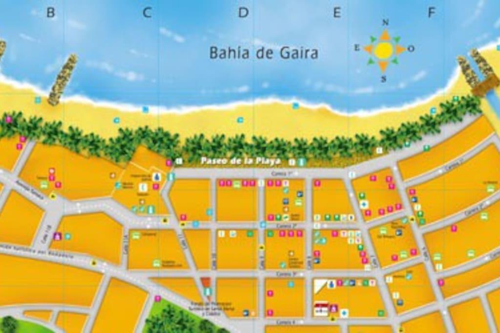 Mapa básico del Rodadero
