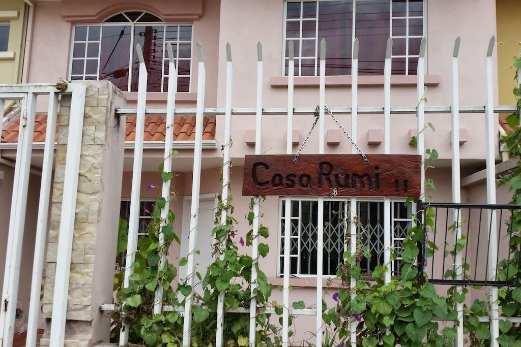 "Exterior sign for ""Casa Rumi"""