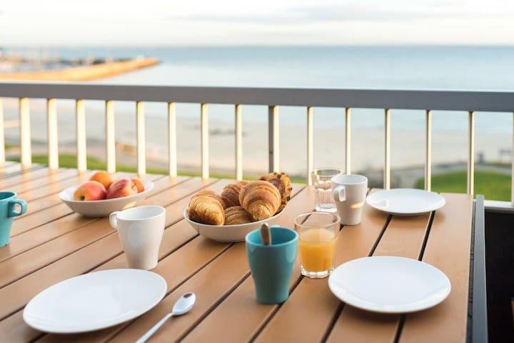 Vue mer & plage au pied, 4 chambres,idéal famille