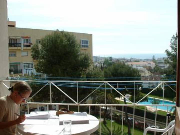 Appartement vue sur mer proche centre et plages