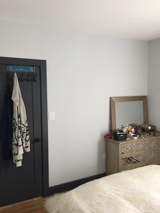 Door hooks and dresser/mirror