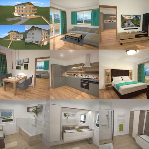Brand New One Bedroom Apartment(3) near Schladming