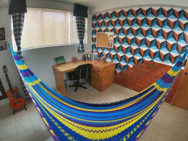 Comfortable hammock that was woven by artisans from Chiapas state.