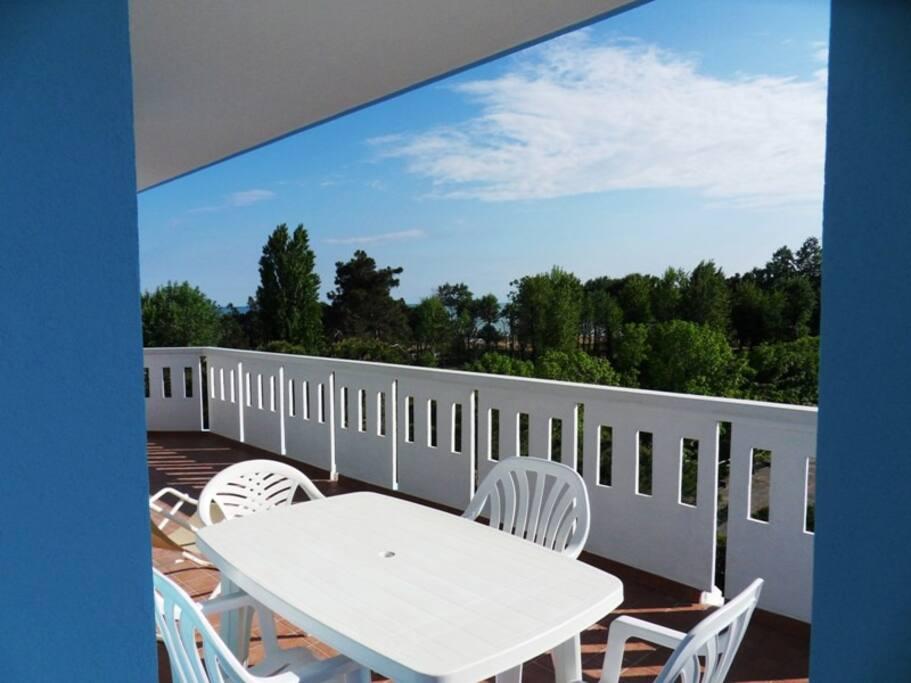 terrazza con vista panoramica