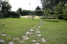 Path to tennis court