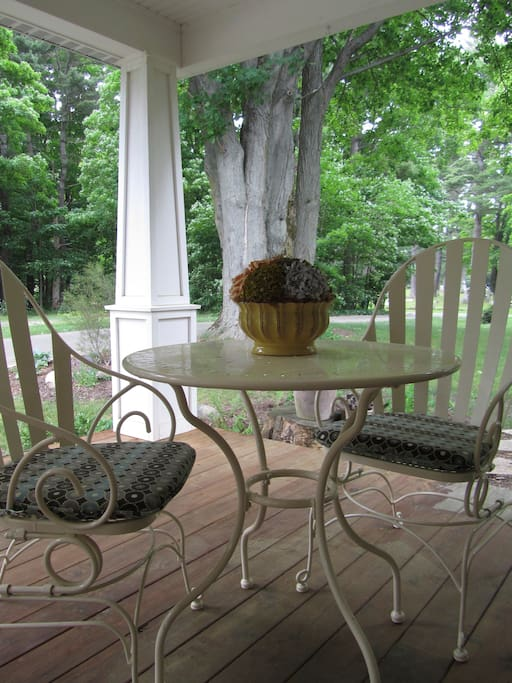 Front porch - perfect for breakfast or morning coffee!