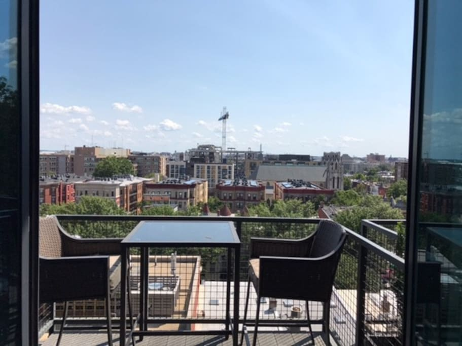 Balcony with view of the entire city including U.S. Capitol and Washington Monument