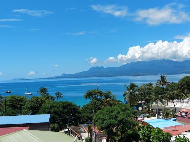 Appartement vue mer et montagne à 50m de la plage