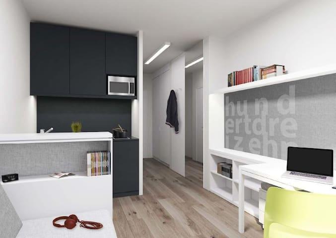 Modern spacious 1-room apartment in Berlin Mitte