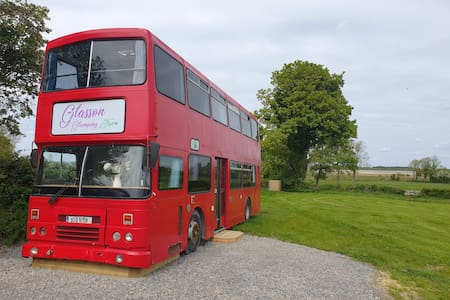 The Big Red Bus at Glasson Glamping Farm