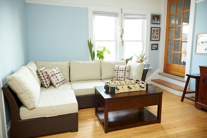 SHARED LIVING ROOM:  Couch and TV (You Tube).