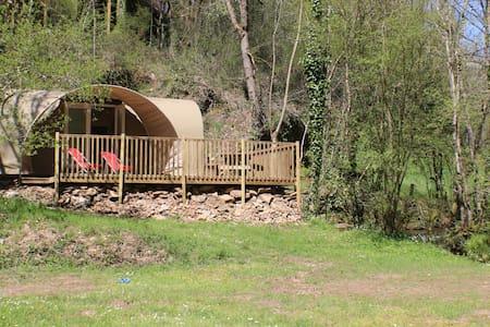 Petit bungalow fun au milieu de la nature