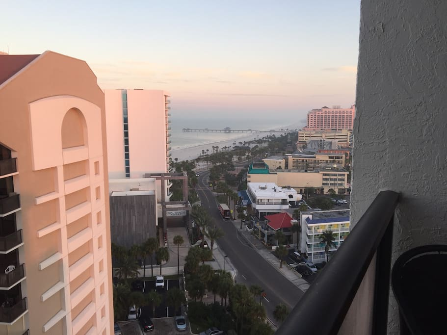 From the balcony, view of Clearwater Beach.....