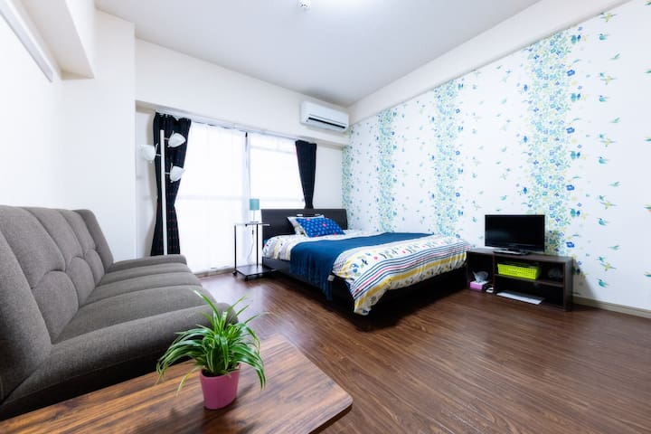 802 cozy room near Tenjin with free wifi