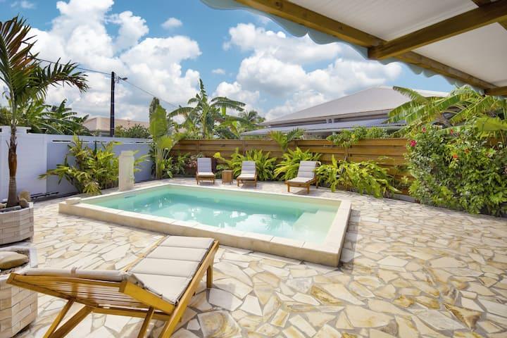 Villa 'la SALINE'  Standing avec piscine calme
