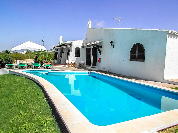 Catalunya Casas: Villa Bini for 7 guests, only 1 km to gorgeous Menorca beaches!