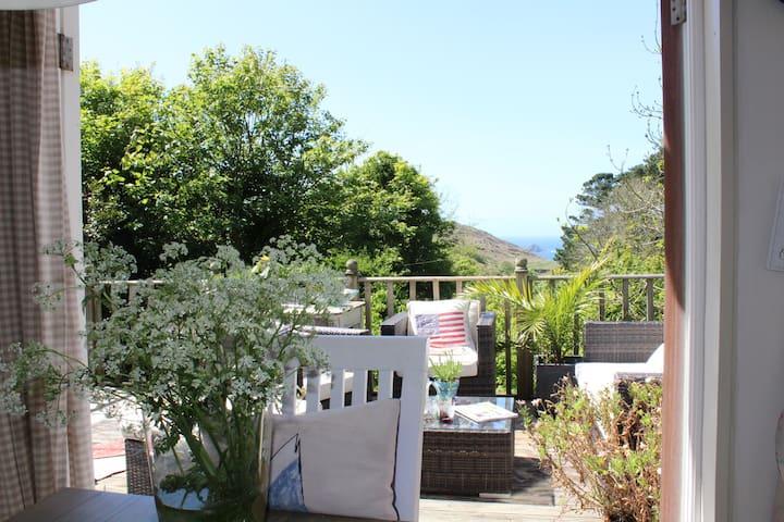 Amazing sea views, large terrace & lush gardens