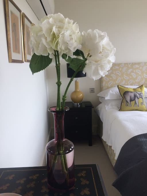 Fresh flowers in your room during your stay
