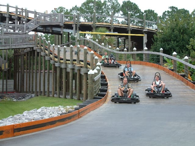 Less than two miles from Mojo, The Track is one of Destin's landmark entertainment venues that offers go-cart racing. bumper boats and more for all ages/skills.
