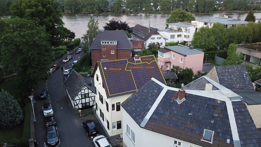 Zu Hause auf Zeit direkt am Rhein