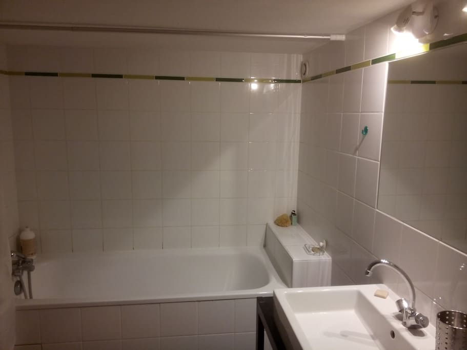 Salle de bain avec baignoire & WC