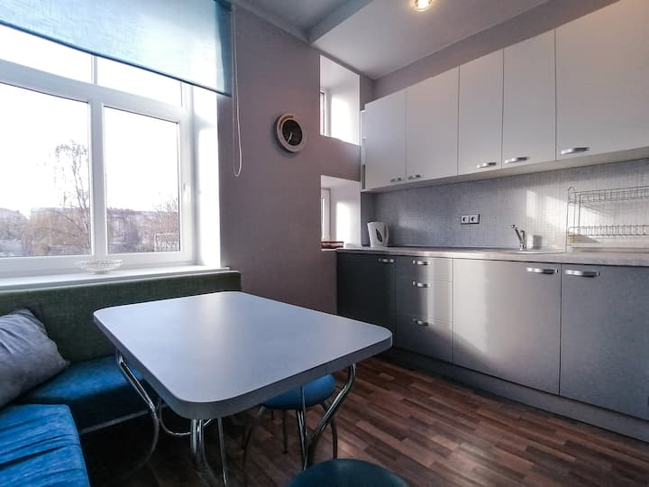 Flat in the center of Riga with parking
