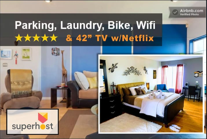BEAUTIFUL 5 star BEDROOM, PRIVATE Bath+BIKE VENICE