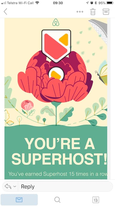 SUPERHOST guarantees of value and best deal for any Guest.