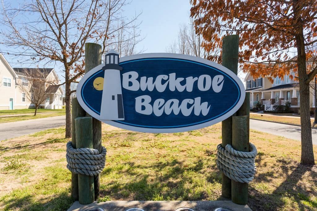 Buckroe Beach in the spring before the flowers and trees bloom