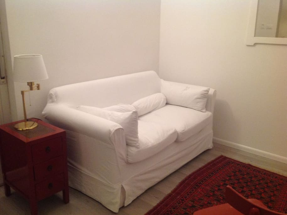 living room with sofa bed (150 cm)