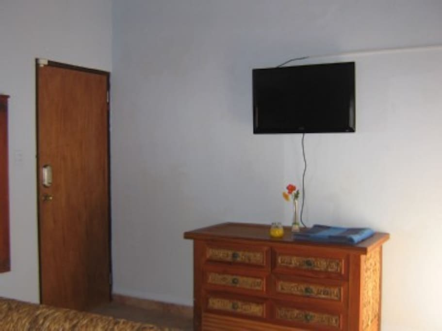 Each bedroom has cable tv