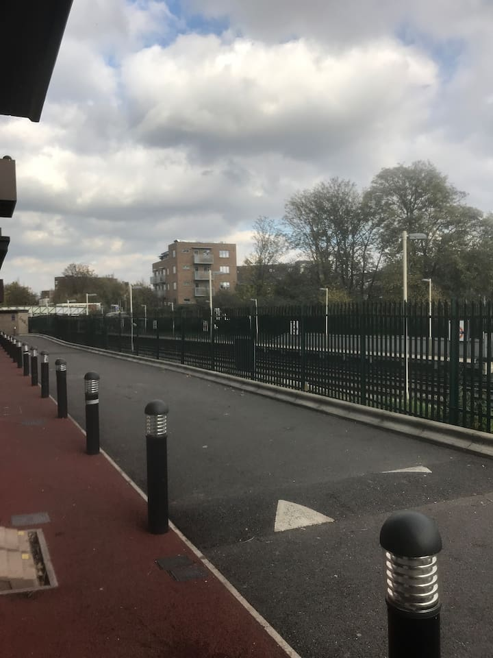Outside view showing Brockley Station