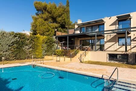 An Astonishing Villa with Pvt Pool - Kalyvia Thorikou - Casa de campo