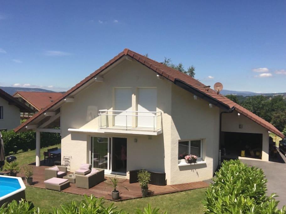 Belle villa contemporaine annecy le vieux villas - Chambre d hotes annecy le vieux ...