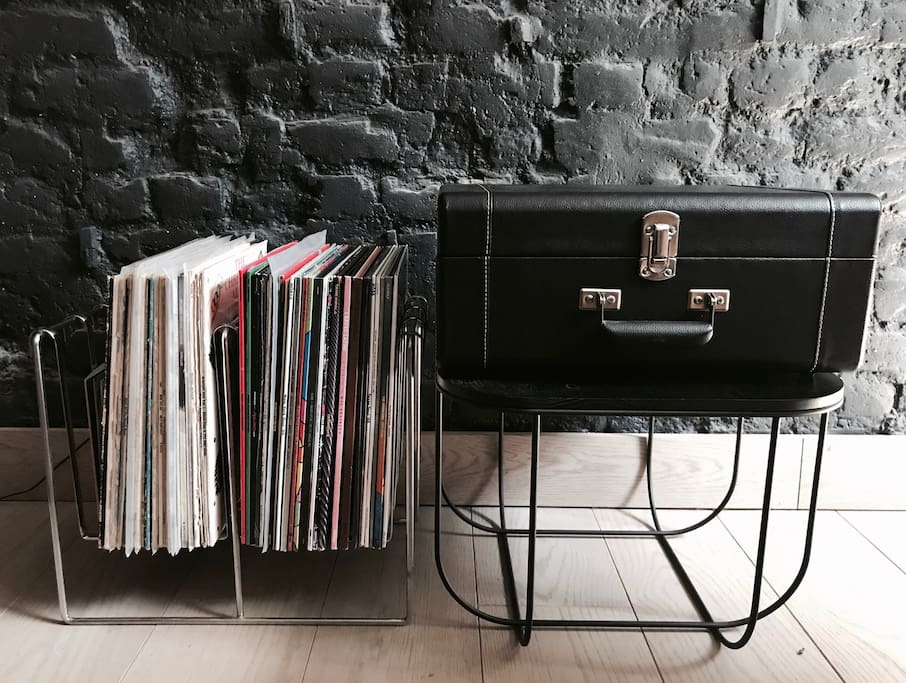 With several record players & selection of great records and music points throughout the house - you will always have something to listen to.