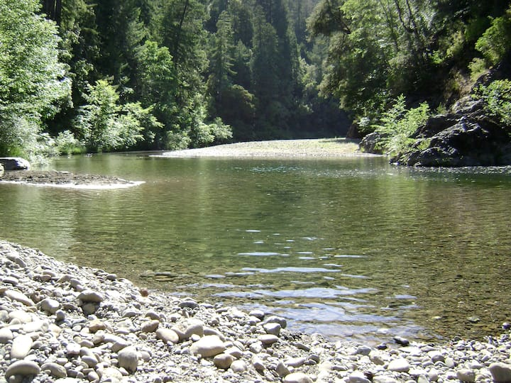 Campground w/ access to Navarro River - own tent