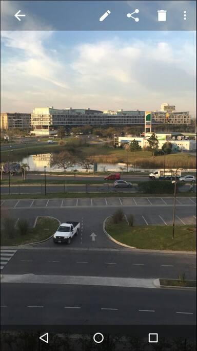 Vista panorámica desde el departamento.