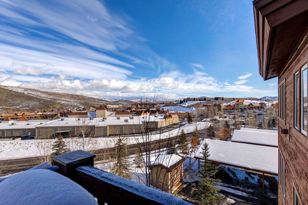 View from Condo Balcony.  Walk to Tanger Outlet Mall.  Crestview, Park City, UT