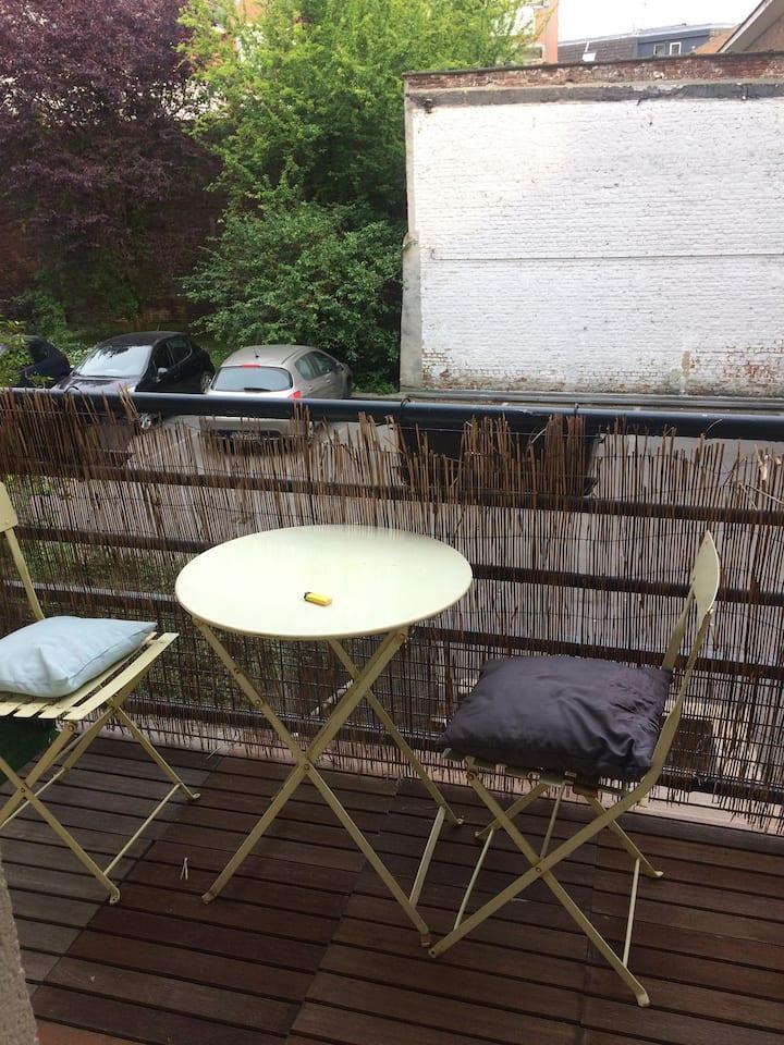 Appartement calme, parking terrasse Lille centre